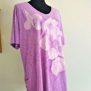 Just My Size Women's 3X Lavender Tee
